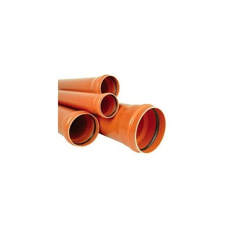TEAVA CANALIZARE PVC, SN2, 125MMX3M