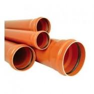 TEAVA CANALIZARE PVC, SN2, 125MMX6M