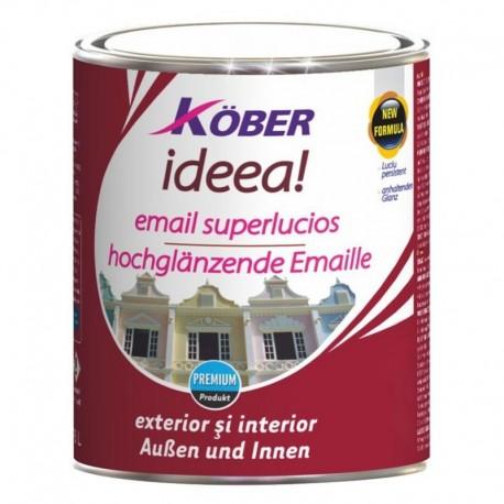 VOPSEA EMAIL SUPERLUCIOS, INTERIOR / EXTERIOR, IDEEA, MARO DESCHIS RAL8002, 0.75L, KOBER