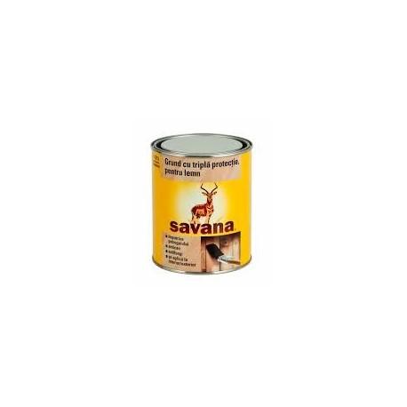 GRUND PENTRU LEMN, INTERIOR / EXTERIOR, INCOLOR, 0.75L, SAVANA