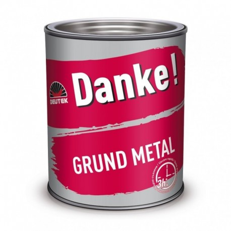 GRUND PENTRU METAL, INTERIOR / EXTERIOR, GRI, 0.7L, DANKE
