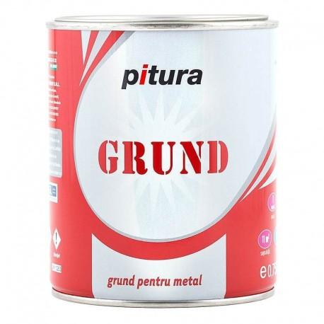 GRUND PENTRU METAL, INTERIOR / EXTERIOR, ROSU OXID, 4L, PITURA