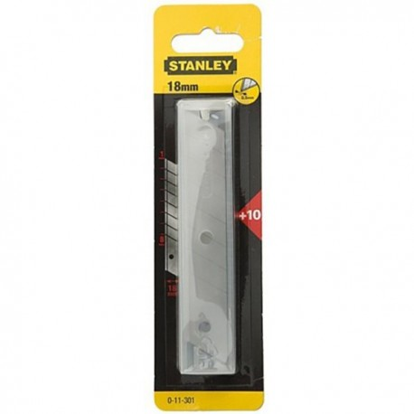 1-11-301 SET 10 LAME CUTTER 18MM, STANLEY