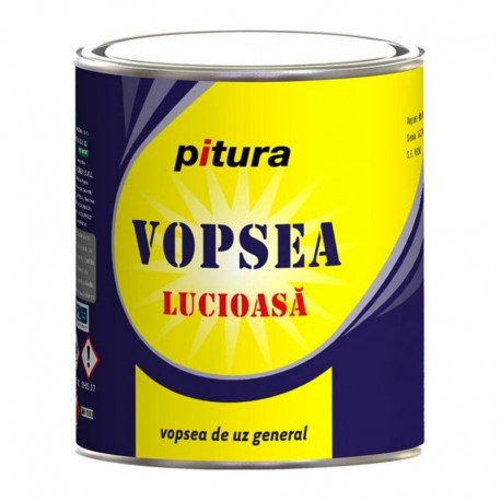 VOPSEA ALCHIDICA PENTRU LEMN / METAL, INTERIOR / EXTERIOR, ALB POLAR, 0.6L, PITURA