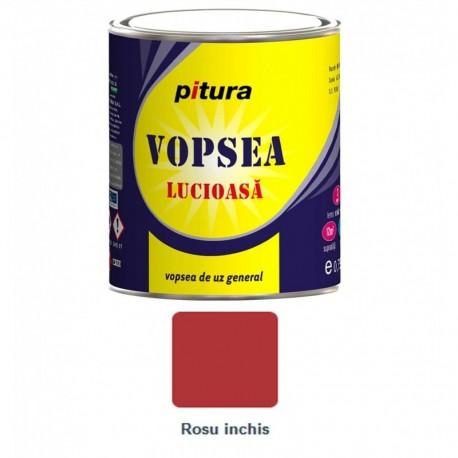 VOPSEA ALCHIDICA PENTRU LEMN / METAL, INTERIOR / EXTERIOR, ROSU INCHIS, 0.6L, PITURA