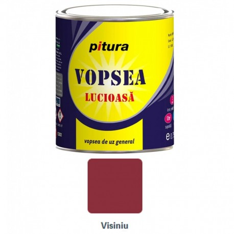 VOPSEA ALCHIDICA PENTRU LEMN / METAL, INTERIOR / EXTERIOR, VISINIU, 0.6L, PITURA
