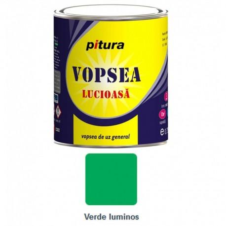 VOPSEA ALCHIDICA PENTRU LEMN / METAL, INTERIOR / EXTERIOR, VERDE LUMINOS, 0.6L, PITURA