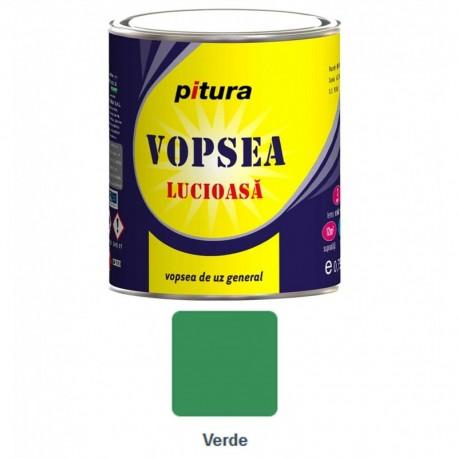 VOPSEA ALCHIDICA PENTRU LEMN / METAL, INTERIOR / EXTERIOR, VERDE, 0.6L, PITURA