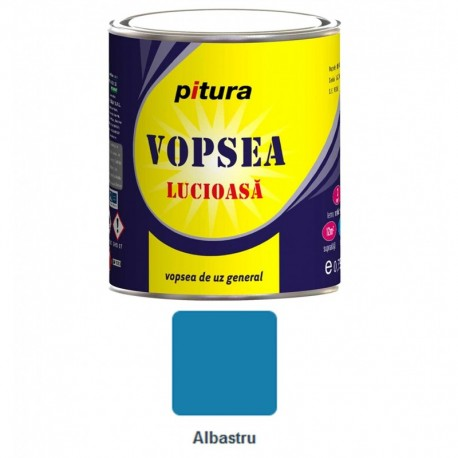 VOPSEA ALCHIDICA PENTRU LEMN / METAL, INTERIOR / EXTERIOR, ALBASTRU, 0.6L, PITURA