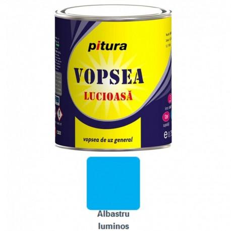 VOPSEA ALCHIDICA PENTRU LEMN / METAL, INTERIOR / EXTERIOR, ALBASTRU LUMINOS, 0.6L, PITURA