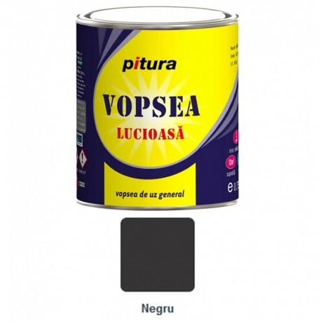 VOPSEA ALCHIDICA PENTRU LEMN / METAL, INTERIOR / EXTERIOR, NEGRU, 0.6L, PITURA