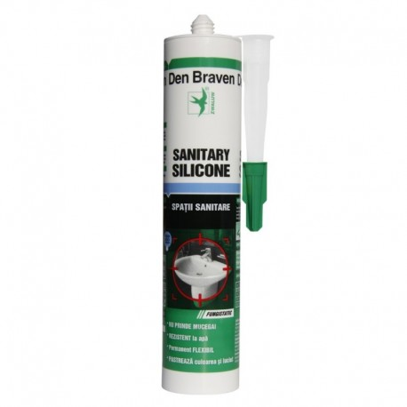 SILICON SANITAR, ALB, 280ML, DEN BRAVEN