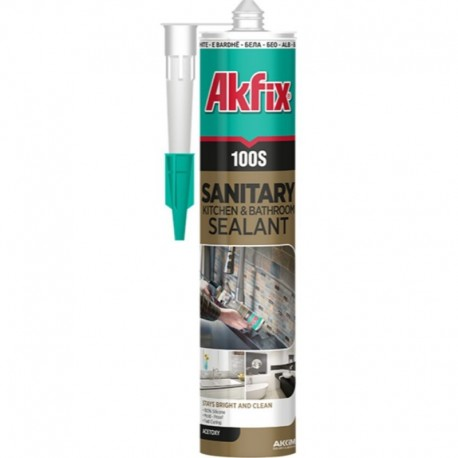 SILICON SANITAR, TRANSPARENT, 100S, 280ML, AKFIX