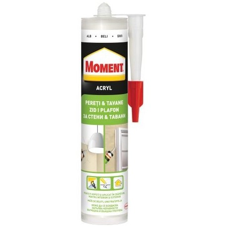 SILICON ACRYL, ALB, 280ML, MOMENT