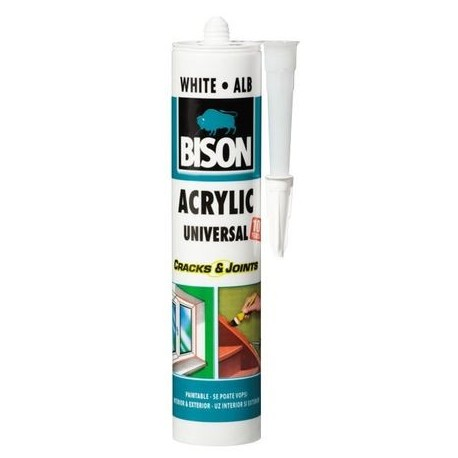 SILICON ACRYL, ALB, 300ML, BISON
