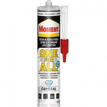 SILICON, ONE FOR ALL, TRANSPARENT, 290ML, MOMENT
