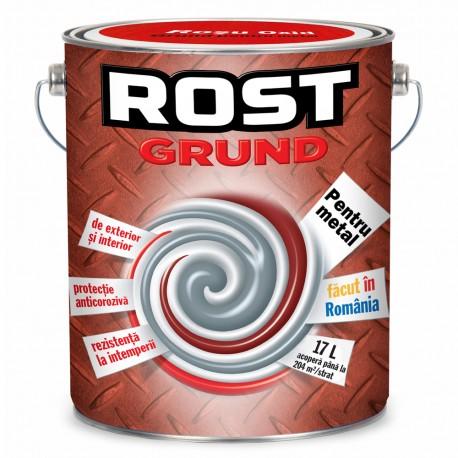 GRUND PENTRU METAL, INTERIOR / EXTERIOR, ROSU OXID, 17L, ROST
